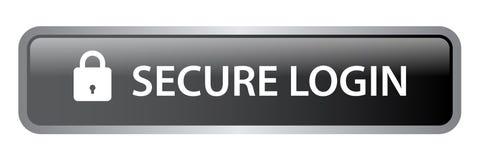 Beveilig login Webknoop royalty-vrije illustratie