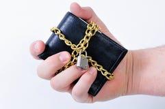 Beveilig portefeuille stock fotografie