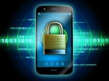 Beveilig smartphone vector illustratie