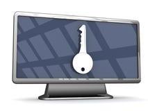Beveilig televisie Met groot scherm Stock Afbeelding