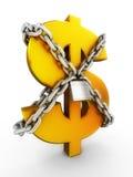 Beveilig van dollar Royalty-vrije Stock Fotografie