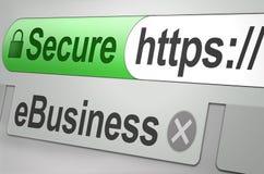 Beveilig Web Royalty-vrije Stock Afbeeldingen