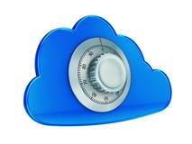Beveilig wolk gegevensverwerking Royalty-vrije Stock Afbeeldingen