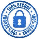Beveilig zegel Royalty-vrije Stock Afbeeldingen