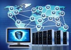 Beveiligd Netwerk Intenet Royalty-vrije Stock Afbeeldingen