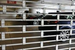 Beveiligd parkeerterrein Stock Afbeelding