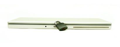Beveiligde laptop Royalty-vrije Stock Afbeeldingen