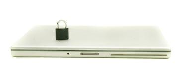 Beveiligde laptop Stock Foto