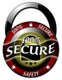 100 beveiligen hangslotpictogram Stock Afbeeldingen