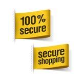 100% beveiligen het winkelen Stock Foto