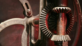 Bevel Gear mechanism. An example of a bevel gear mechanism on an old piece of machinery Royalty Free Stock Photography