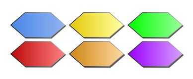 Bevel - Hexagon Web Icons / Buttons Royalty Free Stock Photo