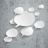 Bevel Speech Bubbles Infographic Design Concrete Royalty Free Stock Photography
