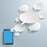 Bevel Speech Bubbles Smartphone Stock Photography