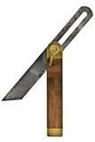 Bevel tool. Vintage sliding bevel isolated over white background royalty free stock image