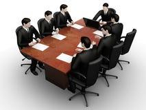 Bevel van het zeven businessmanswerk royalty-vrije illustratie
