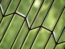 Beveled Glass Abstract. A close up of a beveled glass window royalty free stock image