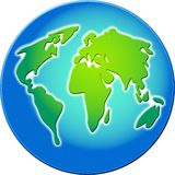Beveled globe Royalty Free Stock Photo