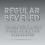 Beveled Outline Font and Digit. Eps 10 Vector, Editable for any Background Vector Illustration