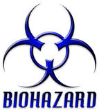 Beveled Red Biohazard Logo Royalty Free Stock Image