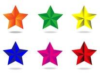 Beveled star Stock Photography