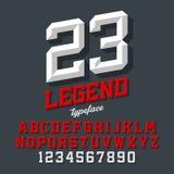 Beveled style font Royalty Free Stock Photography
