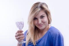 Bevendo con me al futuro Fotografie Stock