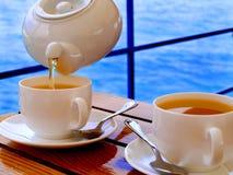 Bevendo del tè Immagine Stock