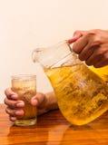 Beverage beer. Drink beer in a jug Royalty Free Stock Photos