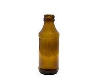 Beverage blank brown bottle made of glass Stock Image