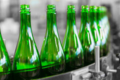 Beverage bottles Stock Photo