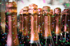 Beverage bottles Stock Photo