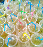 Pile of straw cups Royalty Free Stock Images