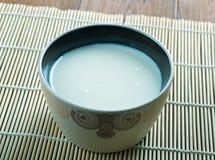 Beverage camel milk. Chal beverage of fermented camel milk.popular in Central Asia stock image
