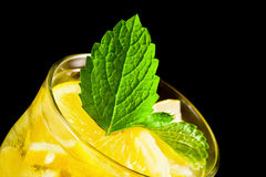 Beverage of citrus with mineral wate Stock Photography