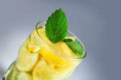 Beverage of citrus with mineral water Stock Image