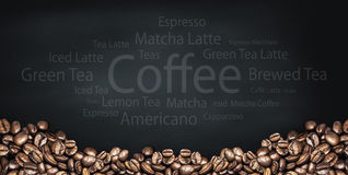 Beverage and coffee background Royalty Free Stock Photos