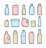 Beverage container icons Royalty Free Stock Image