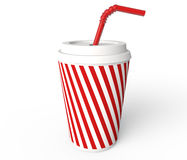 Beverage cup. Coffee cup royalty free illustration