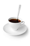 Beverage. cup of black coffee Stock Photography
