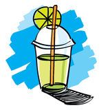 Beverage cup with drinking straw Royalty Free Stock Photography