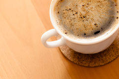 Beverage. Cup of hot drink coffee with froth. Royalty Free Stock Photography