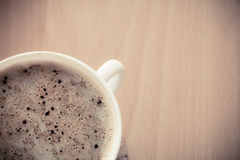 Beverage. Cup of hot drink coffee with froth. Stock Photos