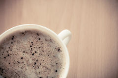 Beverage. Cup of hot drink coffee with froth. Stock Image