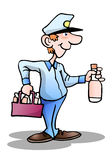 Beverage delivery man Royalty Free Stock Photo