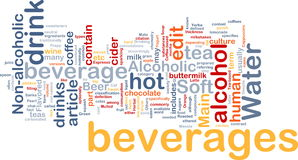 Beverage drink background concept Royalty Free Stock Images