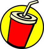 Beverage with drinking straw vector illustration Stock Photos