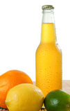 Beverage and fruits Stock Images