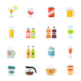 Beverage full color flat design icon. Stock Images