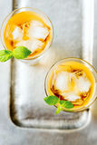 Beverage in a glass Stock Images